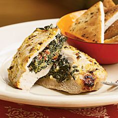 These Greek-inspired spinach- and feta cheese-stuffed pork chops have earned rave reviews from our users.