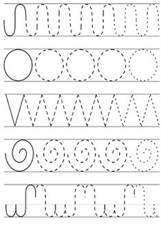 Free printable shapes worksheets for toddlers and preschoolers. Preschool shapes activities such as find and color, tracing shapes and shapes coloring pages. Tracing Worksheets, Shapes Worksheets, Kindergarten Math Worksheets, Preschool Printables Free Worksheets, Handwriting Worksheets, Handwriting Practice, Preschool Writing, Preschool Learning Activities, Free Preschool