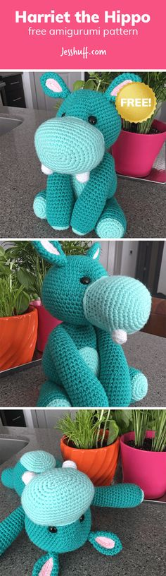 Harriet the Hippo Free Amigurumi Pattern