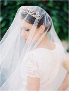 Veil + Crown.  Photo by Laura Gordon