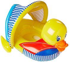 Poolmaster 81547 Learn-to-Swim Duck Baby Float Rider with...