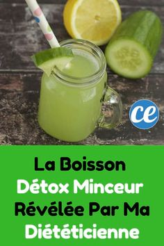 The Slimming Detox Drink Recipe (Revealed By My Dietitian). - The Slimming Detox Drink Recipe (Revealed By My Dietitian). Week Detox Diet, Detox Cleanse For Weight Loss, Detox Diet Drinks, Full Body Detox, Detox Diet Plan, Smoothie Detox, Liver Cleanse, Liver Detox, Cleanse Detox
