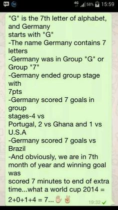 Just some fun facts about Germany and this World Cup