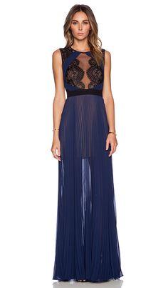 BCBGMAXAZRIA TBD Dress in Classic Blue Combo | REVOLVE