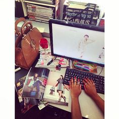 SPOTTED: the #SeptemberIssue on #NoVAMag fashion and beauty writer @angienaomi1's desk | available on newsstands now 08/29