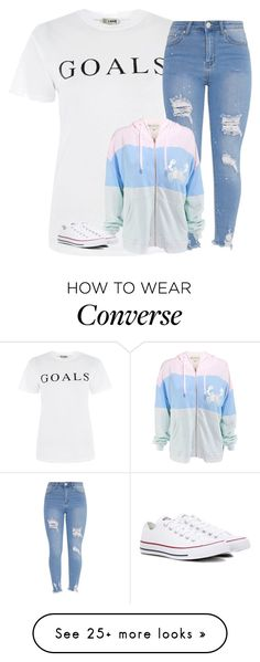 """""""Untitled #3288"""" by laurenatria11 on Polyvore featuring Love, Wildfox and Converse"""