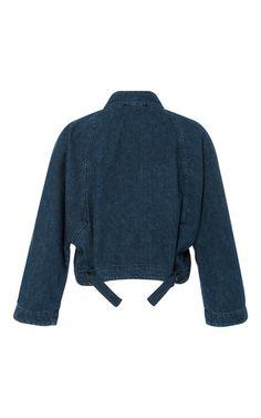 Denim Tie Jacket by SEA for Preorder on Moda Operandi