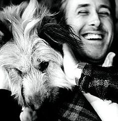 Ryan Gosling with dog, George. More
