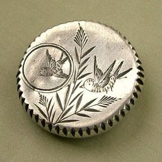 Vintage Victorian silver bird brooch