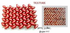 Schema from P@tty Perline. Superduo Herringbone Texture (not Herringbone stitch).  ~ Seed Bead Tutorials
