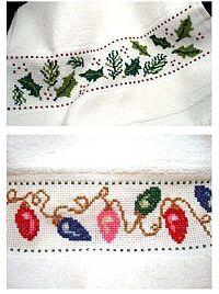 Holiday Tea Towels from Kreinik · Cross-Stitch | CraftGossip.com