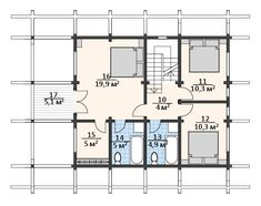 "Проект дома в стиле шале ""C144-5 Пересветик"" площадью 138.1 кв.м. - «Строй Экспресс» Case, Log Homes, Beautiful Words, Floor Plans, Timber Homes, Log Houses, Pretty Words, Log Cabin Homes, Wood Houses"