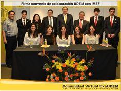 Integrantes de la mesa directiva de la carrera de Licenciado en Finanzas Internacionales (LFI) de la Universidad de Monterrey se incorporaron al Instituto Mexicano de Ejecutivos en Finanzas (IMEF), dentro del capítulo estudiantil.  (UDEM - Universidad de Monterrey - ExaUDEM)