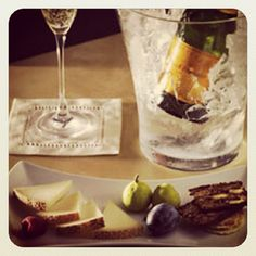 Indulging in an afternoon snack paired w/ Yellow Label. #cheeseplate