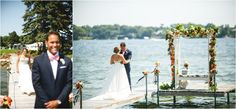 Lake Minnetonka Wedding. #tentwedding #Mnwedding #nautical #elegant #dockdecor  Photo by Janelle Elise Photography