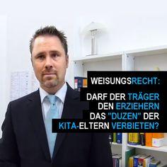 """Darf ein Träger seinen Erziehern das """"Duzen"""" der Eltern in Kita, Kindergarten oder Hort untersagen? https://www.instagram.com/p/BJ-CbapBBri/?taken-by=kitarechtler.de"""