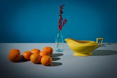 "A still life with references to 16th C Dutch painting. ""Oranges"" by Jennifer Mason. For our dining room."