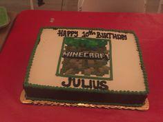 Minecraft cake Julius 10th...