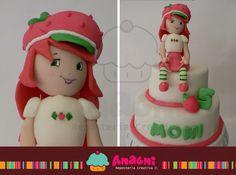 Pastel Rosita Fresita Fondant / Strawberry Shortcake Fondant Cake