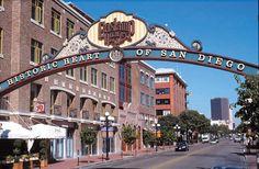 San Diego gaslamp quarter,waar we geluncht hebben