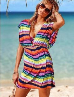 Clearwater realtors help real estate search buyers buy a second home or primary home in international real estate gulf coast of Florida, Pinellas county, Florida realty women beach wear. New Lady Women's Summer Wear Elastic Meryl Rainbow Stripe Beach Dress-in Dresses from Apparel & Accessories on Aliexpress.com