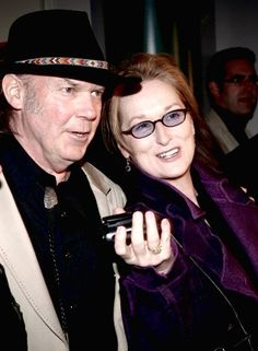 Meryl Streep gets ready to rock! Star takes tips from Neil Young for her new film