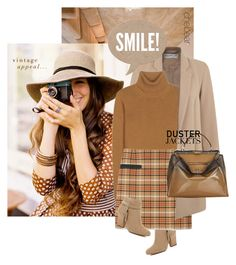 """""""Smile!"""" by chebear ❤ liked on Polyvore featuring Miss Selfridge, River Island, Valentino, Tory Burch, Fendi, ankleboots, dusterjacket and microminis"""