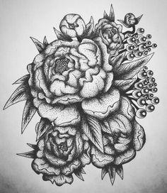Закончил #первый нормальный #эскиз! Пионы для Нины  #dotwork #blackwork #drawing #art #flowers #peony #black #tattoo #sketch #shadows #тату #эскиз #цветы #пионы #Made_in_Chrome #CHROME_POWER_WORKSHOP #darkartists