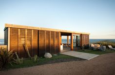 Ahhh, the beach! Really impressive layered shutters for excellent weather protection! @Houzz http://www.houzz.com/photos/3360281/Beach-House-DOTTO-modern-exterior-other-metro