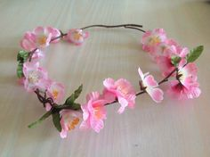 Flower garland suitable for a wedding flower girl , fairy or photo shoot also becoming very popular for every day lay back hippy look on Etsy, $20.00 AUD