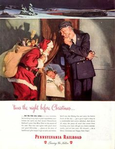 1947 Pennsylvania Railroad Company ad. The Saturday Evening Post.