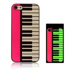 Piano Pattern Noctilucence Phone Case For iPhone 5/5S