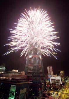 Espectacular celebración de la llegada de 2014 en Taiwan