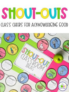 Change your classroom culture with this shout-outs. Students will love receiving these cheers.