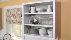 For cabinets next to the sink:  How to Convert Kitchen Cabinets to Open Shelving in the Better Homes and Gardens Video