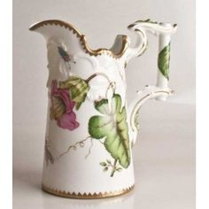 Pink Iris Antique Pitcher/Vase