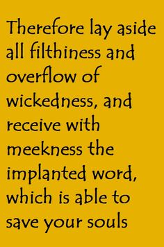 James 1:21. All we have to do is to read the word of God and appropriate it to our lives.