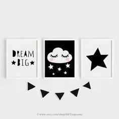 Druckbare Kindergarten-Kunst-Set von 3 / große Träume gute