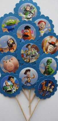 Toy Story Cupcake Toppers.   Need to start working on them, for my nephew's Birthday!