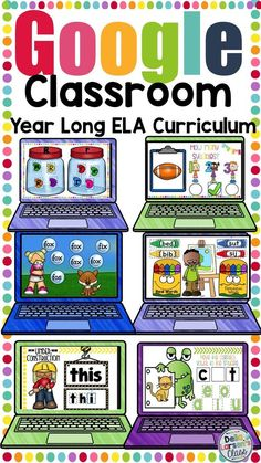 This digital resource is a bundle of everything you need to teach literacy to beginning readers in your kindergarten classroom. This resource includes activities to teach letter knowledge, phonological awareness, phoneme segmentation, rhymes, counting sy Sight Words, Cvce Words, Nonsense Words, Google Classroom, Classroom Ideas, Future Classroom, School Classroom, Guided Reading Groups, Reading Comprehension