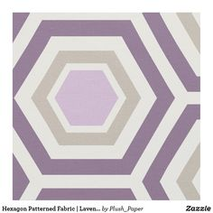 Hexagon Patterned Fabric | Lavender Purple