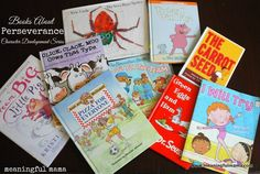 Books on Perseverance - Character Development Series at Meaningful Mama