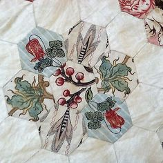 1820-Antique-English-Pieced-Coverlet-Quilt-Early-Chintz-18th-century-SPECTACULAR