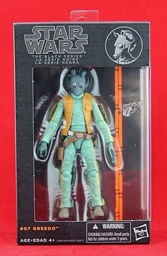 "Greedo Tri Logo Variant Star Wars Black Series 6"" Action Figure Free Shipping  #Hasbro"
