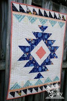 Urban Aztec Modern Quilt Pattern | Craftsy