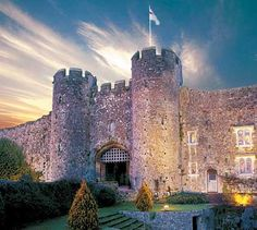 Amberley Castle In Sussex, England. Built in 1140 now a hotel