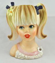 FREE SHIPPING 1940's 1940s Import Japan Japanese Enesco Teenage Girl Blonde Headvase Head Vase Home Decor