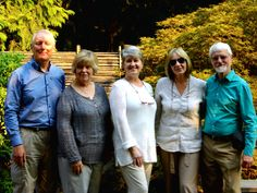 Members of the Japanese Garden Society (JGS), NAJGA's affiliate in the United Kingdom, met with NAJGA executive director Diana Larowe recently en route to their tour of some US and Canadian Japanese gardens. From left: JGS trustee Graham Bowyer and wife Pauline, Diana, JGS national secretary Ann Dobson and Ian Dobson.