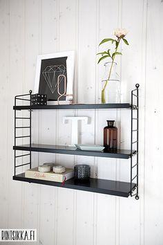 String Pocket Furniture, Interior, Interior Inspiration, Floating Shelves, Interior Styling, New Homes, Home Decor, Inspiration, Scandinavian Interior