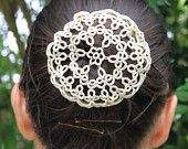 DOUBLES Tatting pattern for a buncover or snood. Visual graph PDF sent by email no postage.